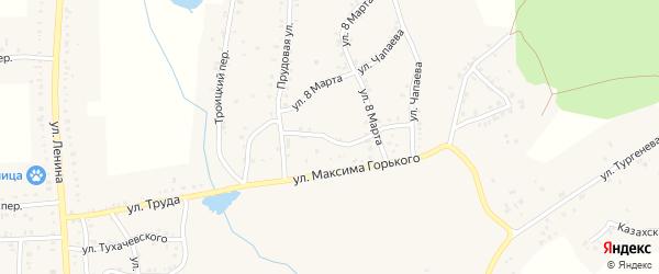 Комсомольский переулок на карте Пласта с номерами домов