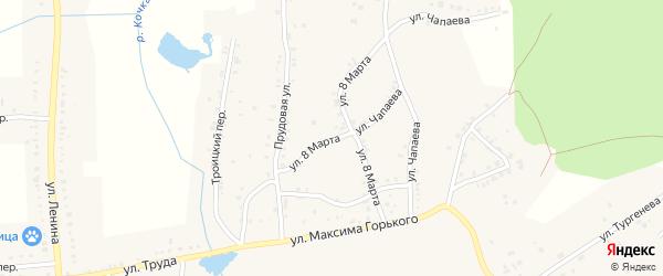 Улица 8 Марта на карте Пласта с номерами домов