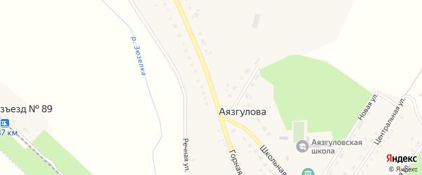 Горная улица на карте деревни Аязгулова с номерами домов