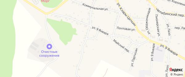 Морозовская улица на карте Пласта с номерами домов