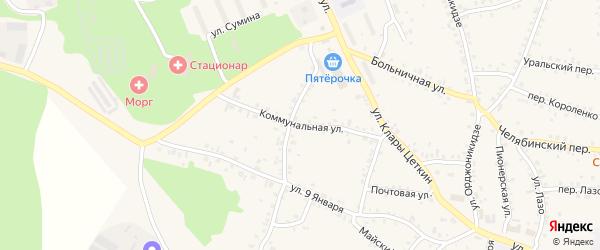 Коммунальная улица на карте Пласта с номерами домов