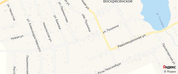Улица Пушкина на карте Воскресенского села с номерами домов