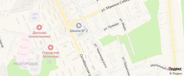 Улица Черняховского на карте Пласта с номерами домов
