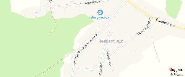 Улица Зои Космодемьянской на карте Пласта с номерами домов