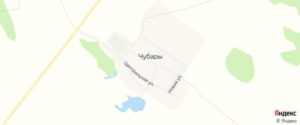 Карта поселка Чубар в Челябинской области с улицами и номерами домов