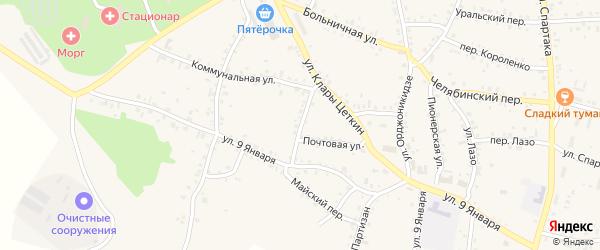 Сибирский переулок на карте Пласта с номерами домов