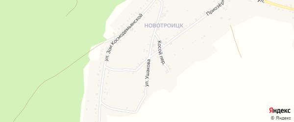Улица Ушакова на карте Пласта с номерами домов