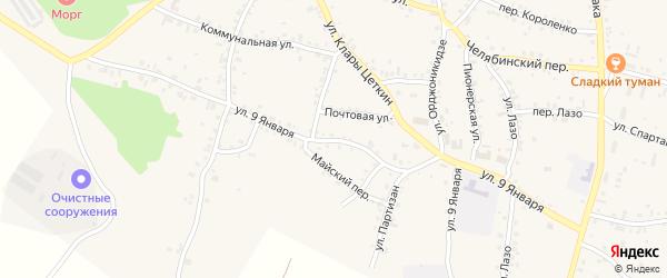 Улица 9 Января на карте Пласта с номерами домов