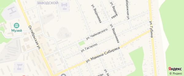 Улица Мира на карте Пласта с номерами домов