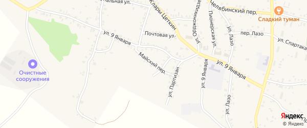Майский переулок на карте Пласта с номерами домов