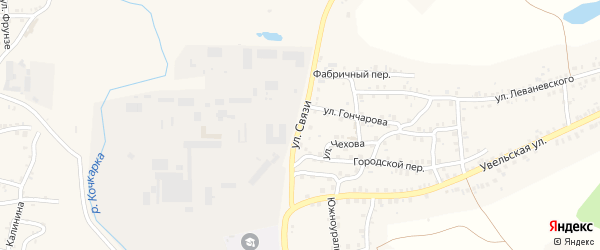 Улица Связи на карте Пласта с номерами домов