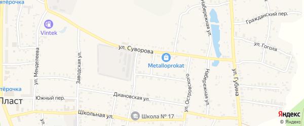 Улица Энгельса на карте Пласта с номерами домов