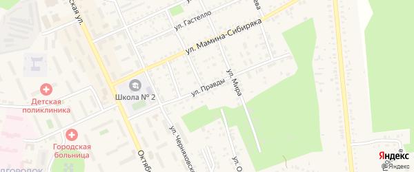 Улица Правды на карте Пласта с номерами домов