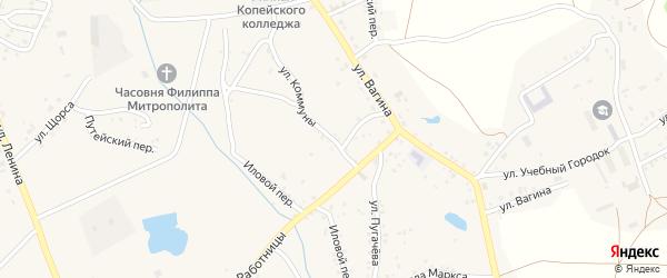Улица Коммуны на карте Пласта с номерами домов