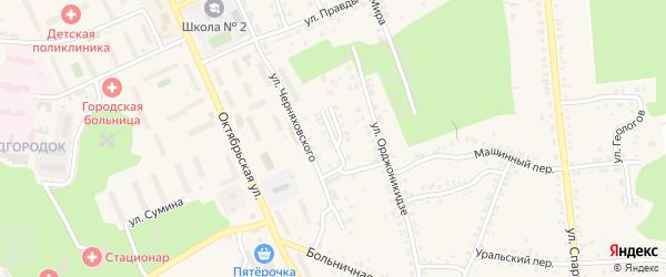 Площадь Черняховского на карте Пласта с номерами домов