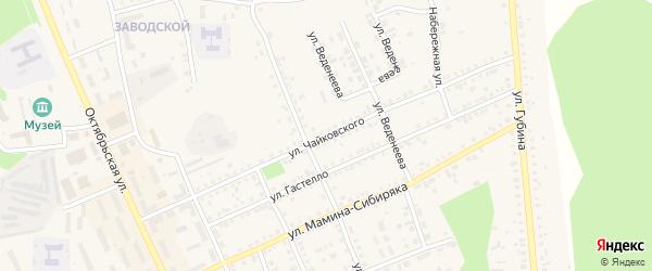 Улица Чайковского на карте Пласта с номерами домов