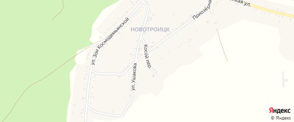 Косой переулок на карте Пласта с номерами домов