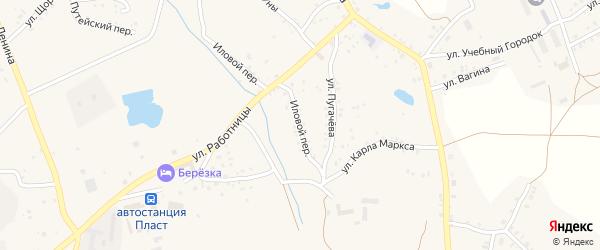 Иловой переулок на карте Пласта с номерами домов