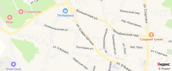 Улица Клары Цеткин на карте Пласта с номерами домов