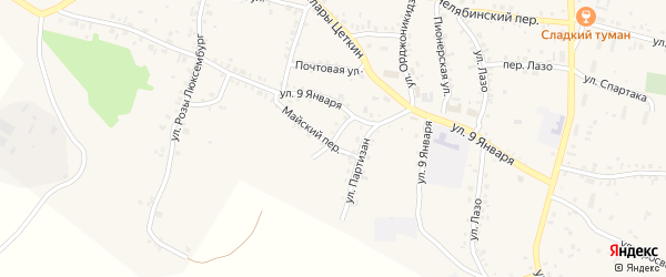 Улица Котовского на карте Пласта с номерами домов