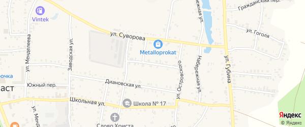 Улица Дзержинского на карте Пласта с номерами домов
