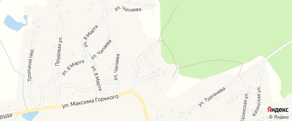 Совхозный переулок на карте Пласта с номерами домов
