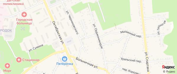 Улица Жданова на карте Пласта с номерами домов
