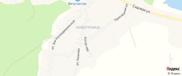 Приозерная улица на карте Пласта с номерами домов
