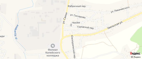 Узкий переулок на карте Пласта с номерами домов