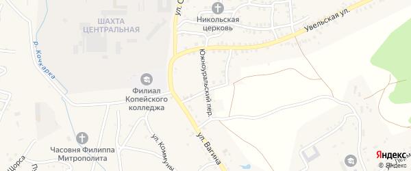Южноуральский переулок на карте Пласта с номерами домов