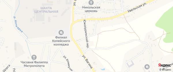Артельный переулок на карте Пласта с номерами домов