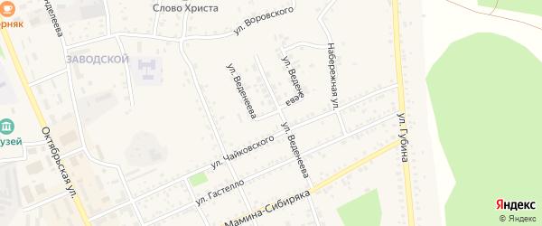Улица Веденеева на карте Пласта с номерами домов