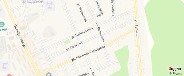Улица Гастелло на карте Пласта с номерами домов