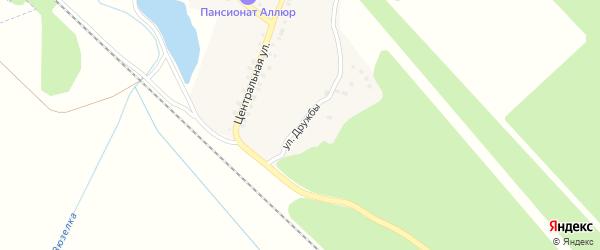 Улица Дружбы на карте деревни Аязгулова с номерами домов