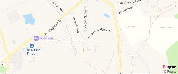 Улица Карла Маркса на карте Пласта с номерами домов