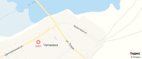 Центральная улица на карте деревни Чапаевки с номерами домов