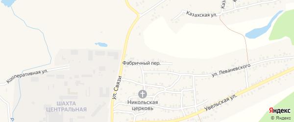 Фабричный переулок на карте Пласта с номерами домов