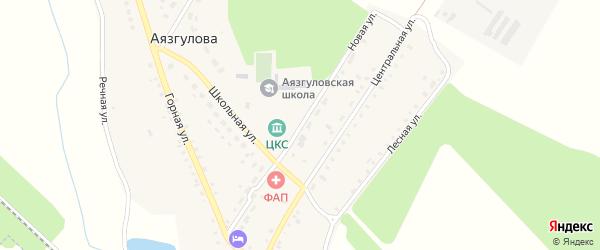 Новая улица на карте деревни Аязгулова с номерами домов