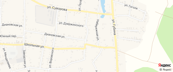 Улица Островского на карте Пласта с номерами домов