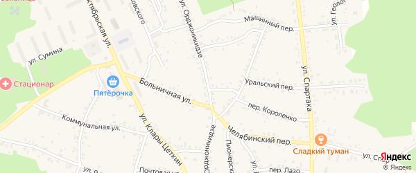 Улица Орджоникидзе на карте Пласта с номерами домов
