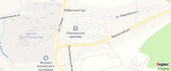 Городской переулок на карте Пласта с номерами домов