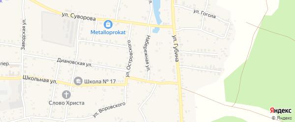 Набережная улица на карте Пласта с номерами домов