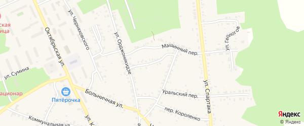Улица Демьяна Бедного на карте Пласта с номерами домов