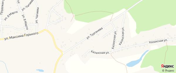 Улица Тургенева на карте Пласта с номерами домов