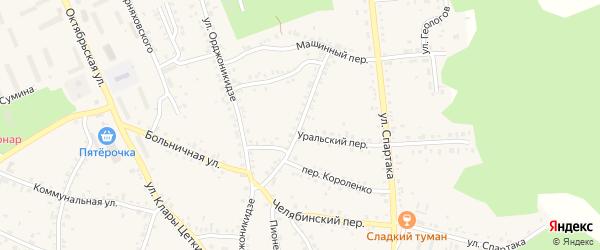 Улица Авангард на карте Пласта с номерами домов