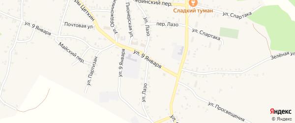 Улица Лазо на карте Пласта с номерами домов