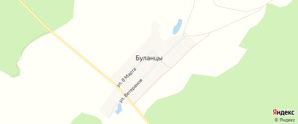 Карта деревни Буланцев в Челябинской области с улицами и номерами домов