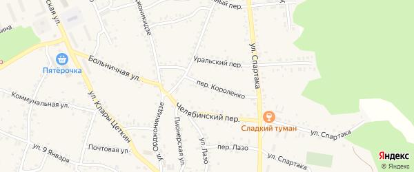 Переулок Короленко на карте Пласта с номерами домов
