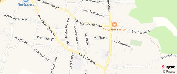 Переулок Лазо на карте Пласта с номерами домов