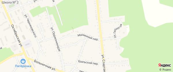 Машинный переулок на карте Пласта с номерами домов